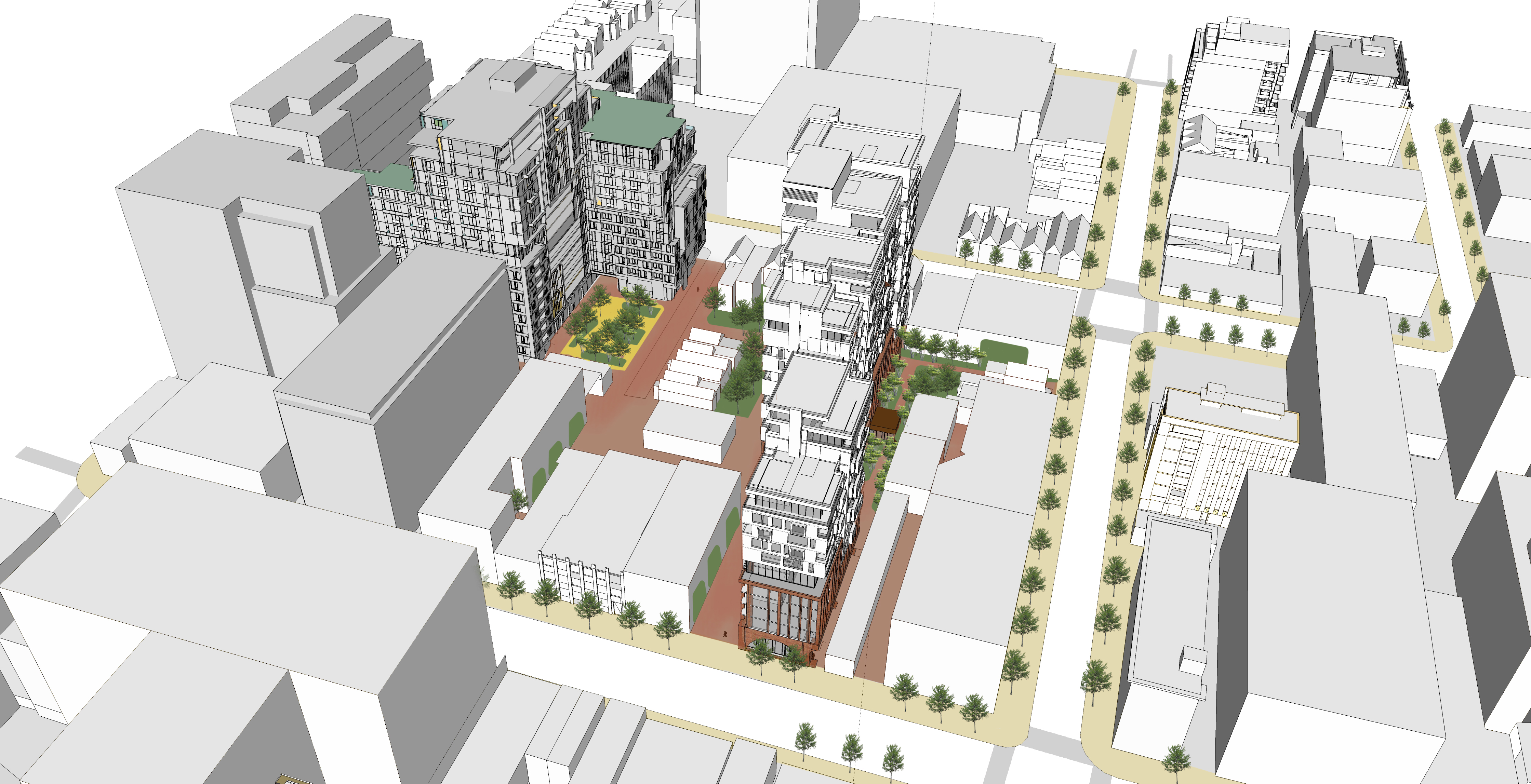 King adelaide bathurst portland coordinated block plan for Courtyard designs bathurst